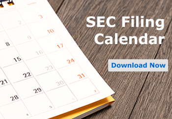sec filing calendar